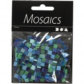 Mini mozaiek  Blauw/Groen (5x5 mm)
