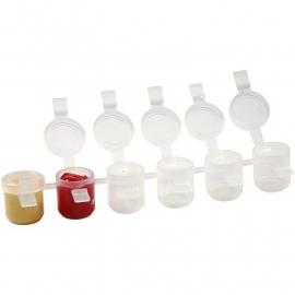 Strip verfpotjes GEVULD (6x5 ml) (10 stuks)