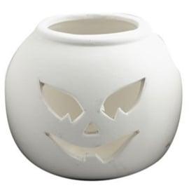 Halloween Waxinelicht, afm 9x9x7,5 cm, pompoen (1 stuks)  (Halloween)