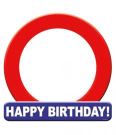 Huldeschild Verkeersbord Happy birthday 50 x 50