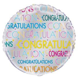"""Folieballon Bright Star """"Congratulations"""" 45cm"""