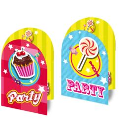 Uitnodigingen Cake & Candy  - 8 stuks