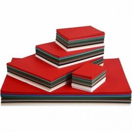 Kerst karton, A2+A3+A4+A5+A6 cm, kleuren assorti, 1800assorti vel (GrV)