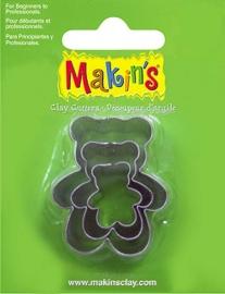 Uitsteekvorm set teddy beer ca. 2 - 4 cm