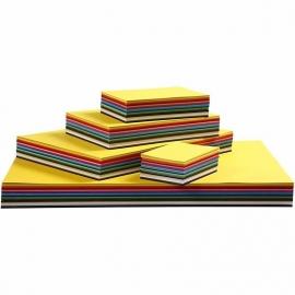 Gekleurd karton, A2+A3+A4+A5+A6 , kleuren assorti, 1800assorti vel (GrV)