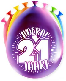 Party ballonnen 21 jaar
