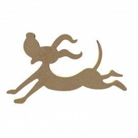 Hond Blij en springend 15 cm