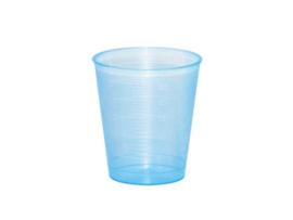 Maatbekertje / medicijnbekertje incl deksel 30 ml  blauw(25 stuks)