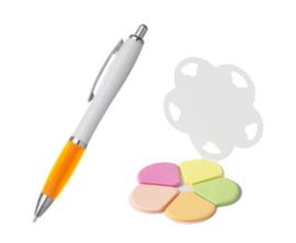 memoboekje met pen (exclusief stickertje)