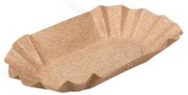 Kartonnen Schaaltje Nature Kraft 3/8kg 11x19cm Bruin (20 Stuks)