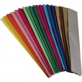 Crepepapier, b: 50 cm, l: 2,5 m, diverse kleuren 15 vouwen