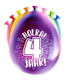 Party ballonnen 4 jaar