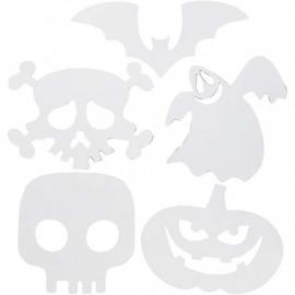Kartonnen Halloween figuren 25x17 cm 3x5 stuks (Teach Me)