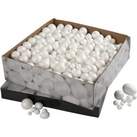 Ballen & Eieren, afm 1,5-6,1 cm, wit, 550div (GrV)