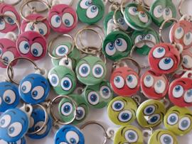 Sleutelhanger 25 mm Eyes   (12 stuks)