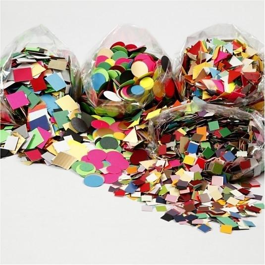 Karton Mozaiek, afm 10+15+20 mm, kleuren assorti, 1 assortiment