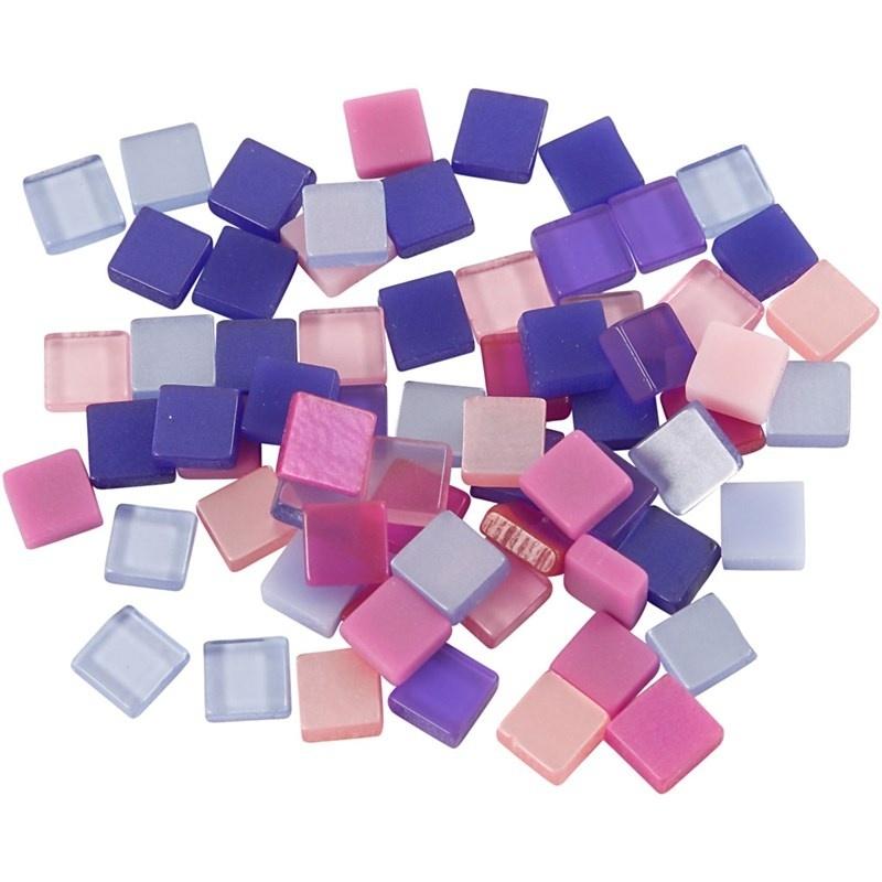 Mini mozaiek  Paars/roze (5x5 mm)