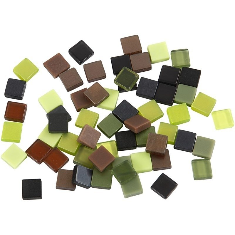Mini mozaiek  Groen harmonie (5x5 mm)
