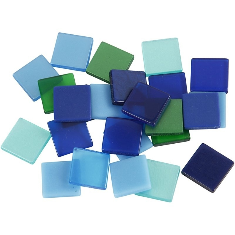 Mini mozaiek Blauw/groen (10x10 mm)