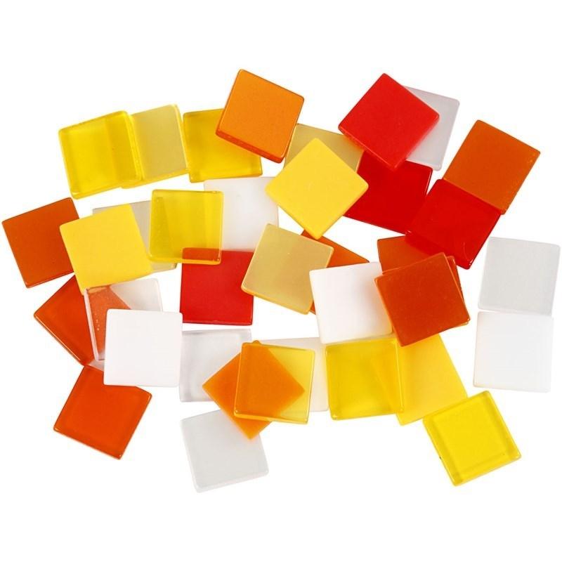 Mini mozaiek Rood/Oranje (10x10 mm)
