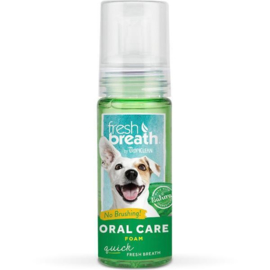 - TropiClean – Fresh Breath Fresh Mint Foam -