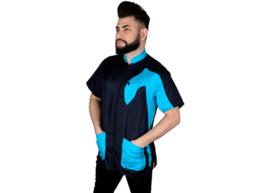 - Tikima Vico Cani Trimshirt Zwart/Turquoise -