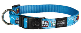 ROGZ ARMED RESPONSE HALSBAND COMIC TURQUOISE XL - 25MM