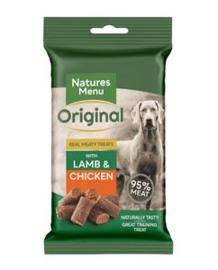 NATURES MENU DOG TREATS CHICKEN & LAMB - 60 GR. per stuk