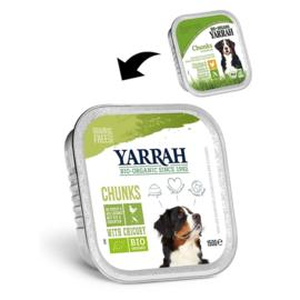 YARRAH - BIOLOGISCHE BROKJES IN SAUS 150 GR KIP & GROENTE ADULT(per12 stuks)