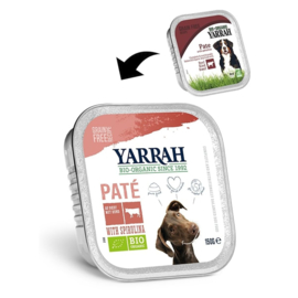 YARRAH - BIOLOGISCHE PATE RUND 150 GR RUND & SPIRULINA ADULT (per 12 stuks)