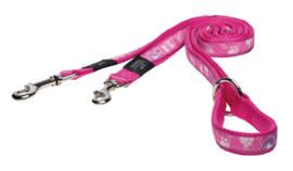ROGZ BEACH BUM LIJN MULTI PINK PAW L - 20MM