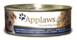 Applaws Dog Can Chicken, Salmon & Vegetables 12 x 156 gr