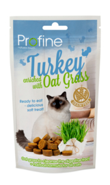 Profine kattensnack Grainfree Turkey & Oat Grass 50 gram