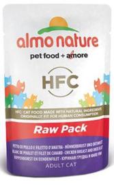 Almo Nature Raw Kip en Eend - 55 gr. (24 verp.)