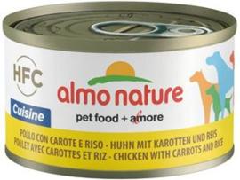 Almo Nature  Dog HFC Cuisine Kip Worteltjes Rijst 24 x 95 gr