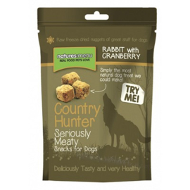 NATURES MENU DOG COUNTRY HUNTER TREATS RABBIT - 50 GR.Graanvrij. Vetarm.