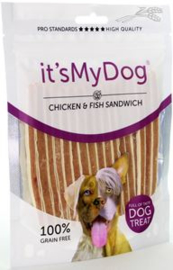 it's My Dog Chicken & Fish Sandwich  	85 gr