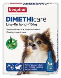 Beaphar Dimethicare Line-on hond tot 15 kilo 6 pip