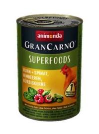 Grancarno Kip & Spinazie 6 x 400 gr