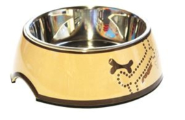 Rogz Bowlz Bronze Bone  Medium: 350ml