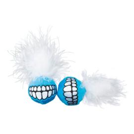 Catnip Grinz Ball Blue (2 stuks)