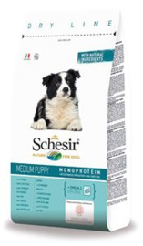 Dubbelpak! Schesir Dog Dry Medium Puppy Chicken 2x12 kg