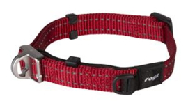 Snake Safety Halsband Red  Maat:	16 mm.