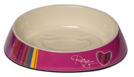 Rogz Bowlz Fishcake Pink Candytripes