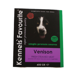 Kennels Favourite Steamed 10 x 395 gr  - Venison