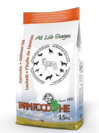 Farm Food HE Schotse Zalmolie 15 kg  Nu: inclusief Farm Food Fresh Menu pens en hart 125 gr