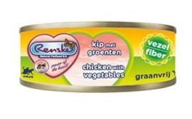Renske Kat Blik Vezel Kip met groenten 24 x 70 gr