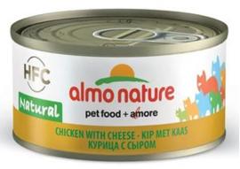 Almo Nature Kip met Kaas - 70 gr. (24 verp.)