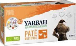 Yarrah Hond Alu MP Pate Mix 4 x 6x150 gr