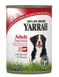 Yarrah Hond Blik Brokjes Rund in Saus - 405 gr. (12 verp.)